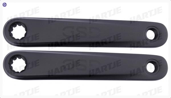 TERN Kurbelsatz; Rechts und links, 170mm Kurbellänge, schwarz, Bosch, ISIS, mit GSD-Logo, passend für GSD