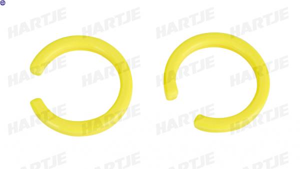 TERN Pedalsicherheitsclip; verhindert das versehentliche Auslösen des Pedals aus der Halterung, gelb, paarweise, passend für MKS EZY Pedale