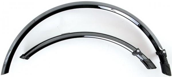 """TERN Schutzblechgarnitur; Kunststoff, 20"""", 406, schwarz, 45mm breit, inkl. Streben"""