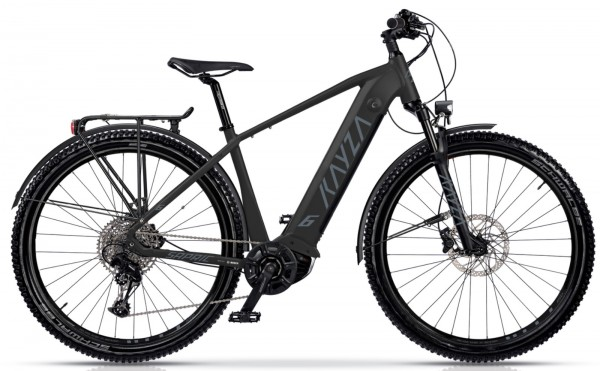 "KAYZA Elektro-MTB StVZO ""Sapric Dry 6"" Mod. 21, Hardtail, 29"", black matt / dust grey matt, 10-Gang SHIMANO ""Deore"", 47cm"