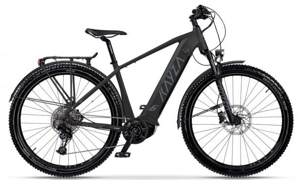 "KAYZA Elektro-MTB StVZO ""Hydric Dry 6"" Mod. 21, Hardtail, 27,5"", black matt / dust grey matt, 10-Gang SHIMANO ""Deore"", 44cm"