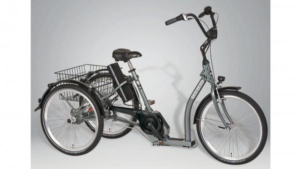 "PFAU-TEC Elektro-Shoppingrad ""Torino"" Mod. 21, Tiefeinsteiger, 24 / 24"", highland grey, 7-Gang SHIMA"