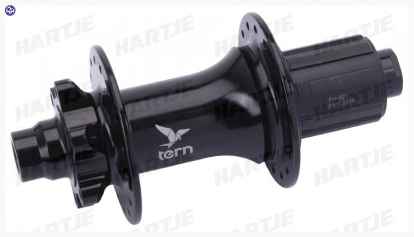 TERN H.R.-Nabe, Formula, 10-fach, schwarz, 32-Loch, Disc 6-Loch, für 12mm Steckachse, EB 148mm, passend für GSD