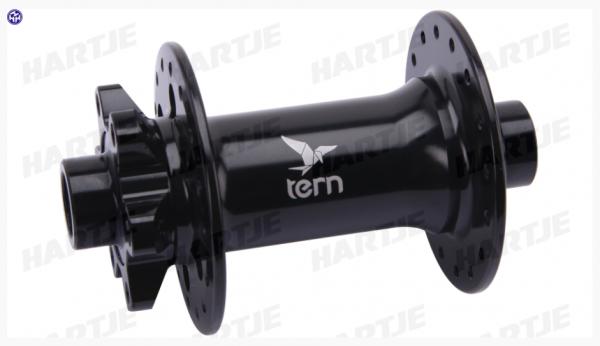 """TERN V.R.-Nabe, """"Formula"""", schwarz, 32 Loch, Disc 6-Loch, für 15mm Steckachse, 110mm Einbaubreite, passend für GSD"""