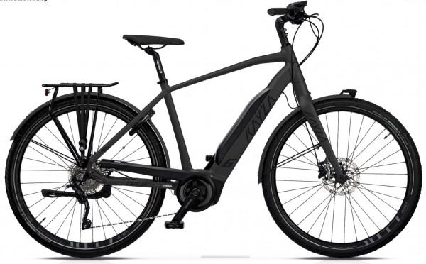 "KAYZA Elektro-Trekkingrad ""Talik Dry 6"" Mod. 21, Diamant, 28"", slate matt / black matt, 10-Gang SHIMANO ""Deore"", 48cm"