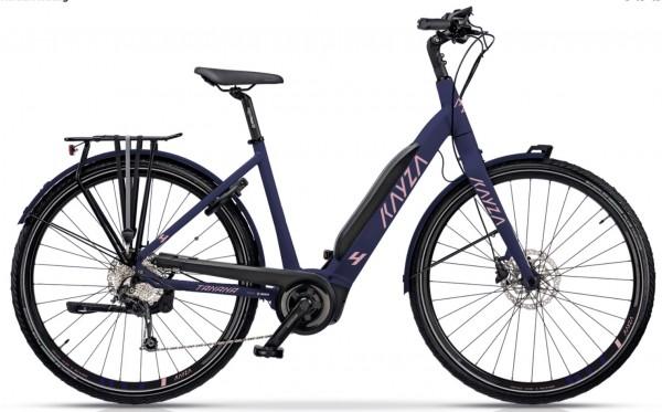 "KAYZA Elektro-Trekkingrad ""Tanana Dry 4"" Mod. 21, Wave, 28"", purple matt / salamon matt, 9-Gang SHIMANO ""Alivio"", 51cm"