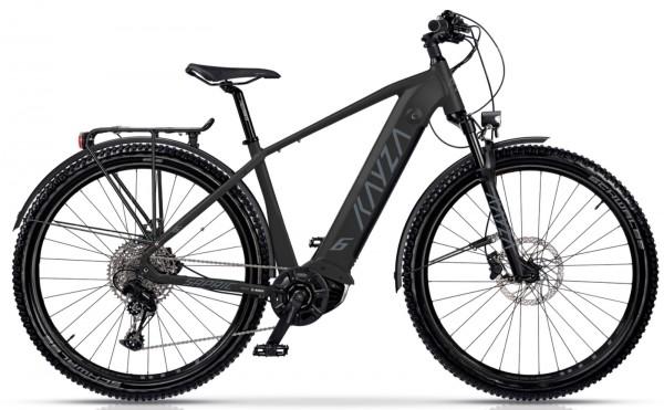 "KAYZA Elektro-MTB StVZO ""Sapric Dry 6"" Mod. 21, Hardtail, 29"", black matt / dust grey matt, 10-Gang SHIMANO ""Deore"", 44cm"
