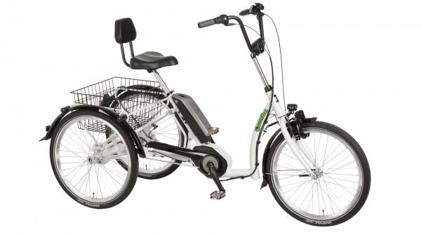 "PFAU-TEC Elektro-Shoppingrad ""Combo"" Mod. 21, Tiefeinsteiger, 24 / 24"", papyrus weiß, 7-Gang SHIMANO ""Nexus"" RBN, 45cm"