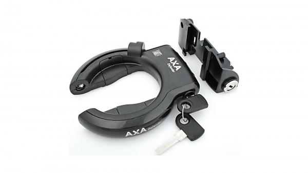 """AXA Rahmen- und Akkuschloss-Set """"Defender""""; Gleichschließend, ohne Halter, mit Plug-In Funktion; Für Bosch 2 Systeme, Kunststoffgehäuse, Gepäckträger-"""