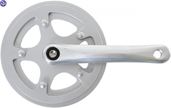 TERN Kettenradgarnitur; 38Z., Aluminium, mit Kettenschutzring, silber