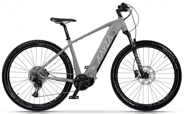 "KAYZA Elektro-MTB Hardtail ""Sapric 6"" Mod. 21, Hardtail, 29"", grey matt/ light grey matt, 10-Gang SHIMANO ""Deore"", 52cm"