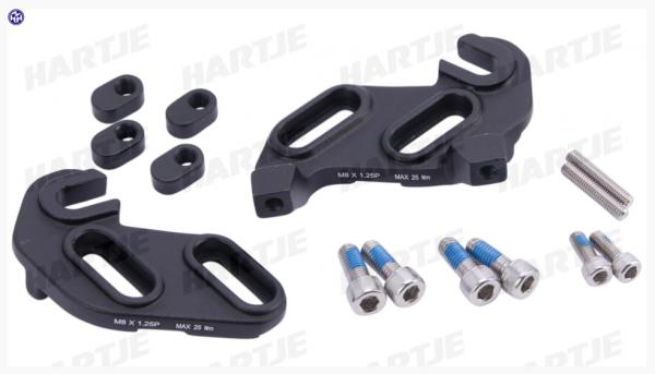 TERN Ausfallende; Aluminium, rechts und links, schwarz, passend für HSD S+ und S8I