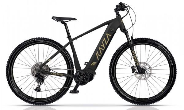 "KAYZA Elektro-MTB Hardtail ""Hydric 8"" Mod. 21, Hardtail, 27,5"", matt black / desert matt, 12-Gang SRAM ""SX Eagle"", 44cm"
