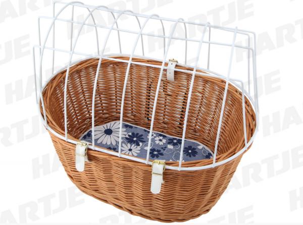 """AUMÜLLER V.R.-Tierkorb """"11/999/N""""; Weide, Maße (LxBxH): 53x40x46cm, für KLICKFIX-Halter (nicht im Lieferumfang enthalten); Mit Gitter und Einlagedecke"""