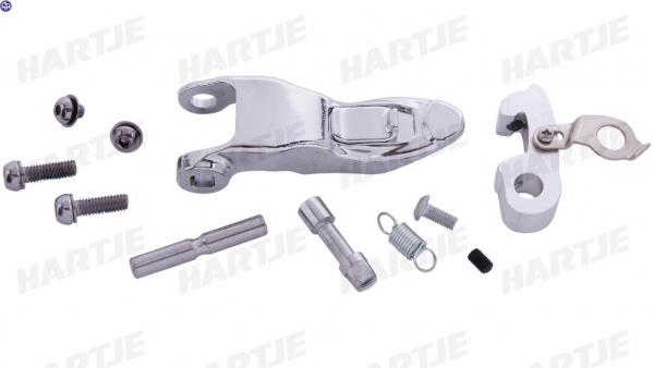 TERN Verschluss-Set; Für Lenksäule, komplett, silber, Q-Lock, passend für Link B7/C3/C7