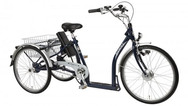"PFAU-TEC Elektro-Shoppingrad ""Napoli II"" Mod. 21, Tiefeinsteiger, 26 / 24"", dunkelblau, 3-Gang SHIMA"
