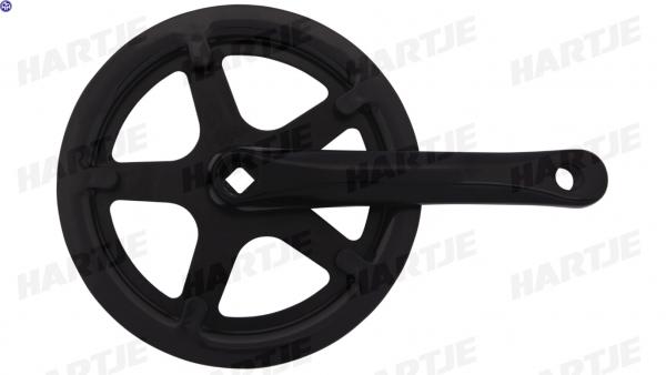 TERN Kettenradgarnitur; 170mm Kurbellänge, schwarz, 44Z., passend für Link C3i / C7i