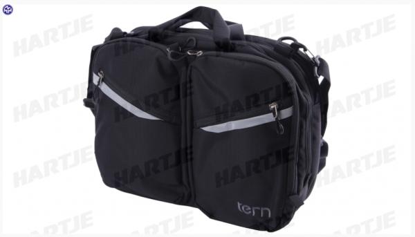 """TERN Lenkertasche """"HQ Bag""""; Bietet Platz für z.B. einen 13-Zoll-Laptop, ein Tablet, ein Telefon, Kabel, Notitzblöcke, eine Geldbörse und eine Wasserfl"""