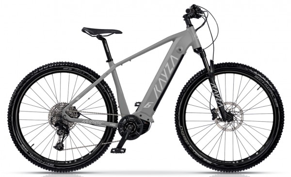 "KAYZA Elektro-MTB Hardtail ""Hydric 6"" Mod. 21, Hardtail, 27,5"", grey matt/ light grey matt, 10-Gang SHIMANO ""Deore"", 52cm"