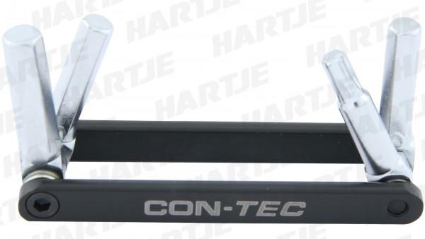 "CONTEC Multifunktionswerkzeug ""Micro Gadget - MG1""; SB-verpackt, sehr flaches und ultrakompaktes Design; 4 Funktionen:; - 4/5/6mm Innensechskantschlüs"