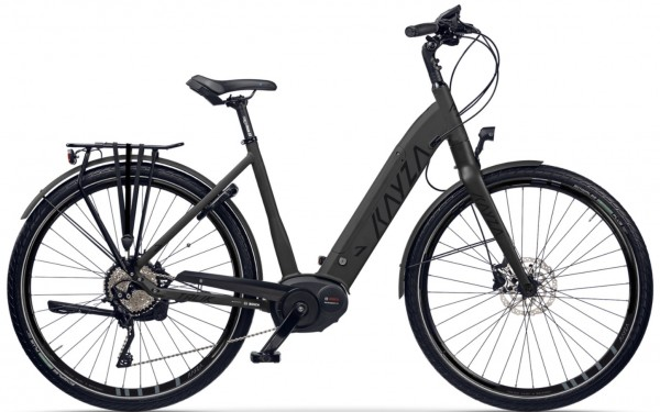 "KAYZA Elektro-Trekkingrad ""Tanana Dry 7"" Mod. 21, Wave, 28"", deep black matt / black glossy, 5-Gang SHIMANO ""Nexus Inter E"", 50cm"
