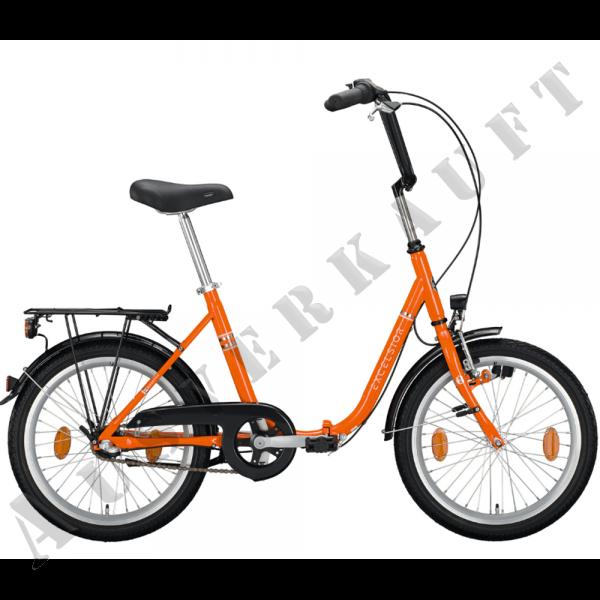 """EXCELSIOR Klapprad """"Klapprad"""" Mod.20, Unisex 20"""", pure orange, 1-Gang RBN, Rahmenhöhe 40 cm"""