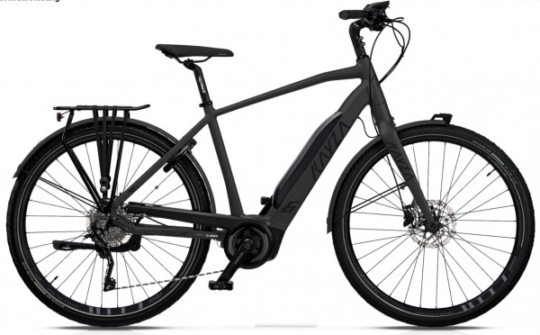 "KAYZA Elektro-Trekkingrad ""Talik Dry 6"" Mod. 21, Diamant, 28"", slate matt / black matt, 10-Gang SHIMANO ""Deore"", 56cm"