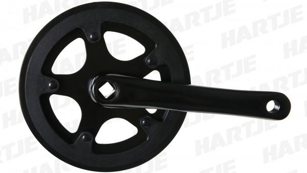 TERN Kettenradgarnitur; Aluminium, 170mm Kurbellänge, mit Kettenschutzring, schwarz, 38Zähne, passend für Node D7