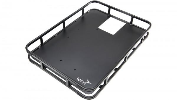 """TERN H.R.-Gepäckträger """"Shortbed Tray""""; Passend für TERN GSD + HSD, mit Metallboden, Aluminium, passend für Euroboxen 600x400mm; Wenn an einem HSD ver"""