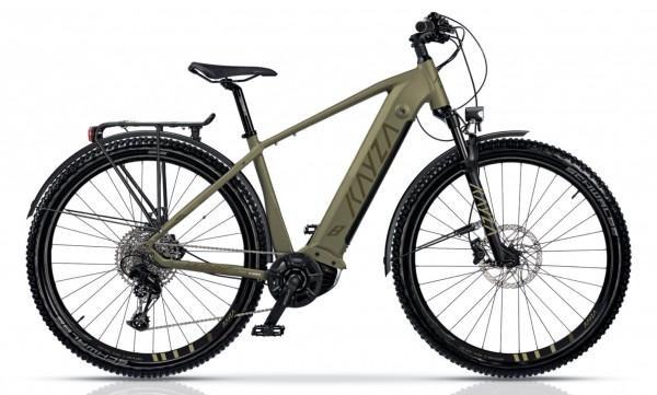 "KAYZA Elektro-MTB StVZO ""Sapric Dry 8"" Mod. 21, Hardtail, 29"", light brown matt / brown matt, 12-Gang SRAM ""SX Eagle"", 56cm"