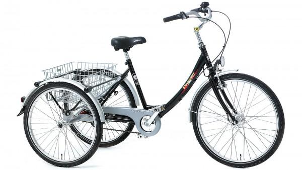 "PFAU-TEC Shoppingrad ""Proven"" Mod. 21, Wave, 26 / 24"", schwarz, 3-Gang SHIMANO ""Nexus"" RBN, 48cm"