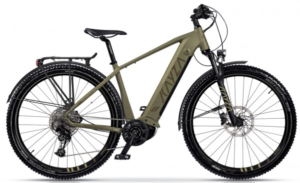 "KAYZA Elektro-MTB StVZO ""Sapric Dry 8"" Mod. 21, Hardtail, 29"", light brown matt / brown matt, 12-Gang SRAM ""SX Eagle"", 44cm"