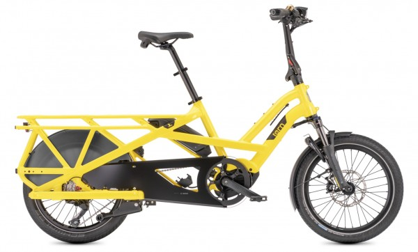 "TERN Elektro-Cargorad ""GSD S10"" Mod. 21, Unisex, 20"", school bus yellow , 10-Gang SHIMANO ""Deore"""