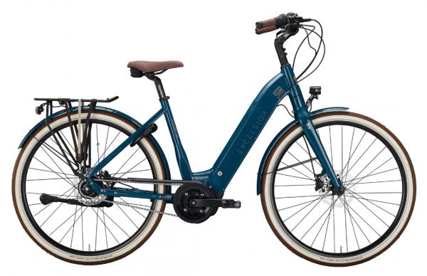"EXCELSIOR Elektro-Cityrad ""Pearl"" Mod. 21, Wave, 28"", ocean blue, 8-Gang SHIMANO ""Nexus"" LL Disc, 55cm"