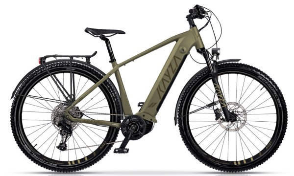 "KAYZA Elektro-MTB StVZO ""Hydric Dry 8"" Mod. 21, Hardtail, 27,5"", light brown matt / brown matt, 12-Gang SRAM ""SX Eagle"", 47cm"