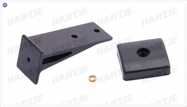 TERN Rahmenhalter; Mit Gummifuß, Aluminium, passend für BYB