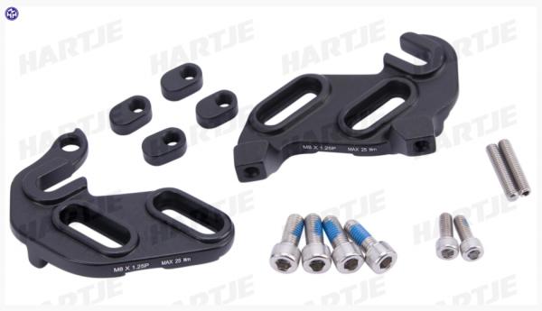 TERN Ausfallende; Aluminium, rechts und links, schwarz, passend für HSD P9