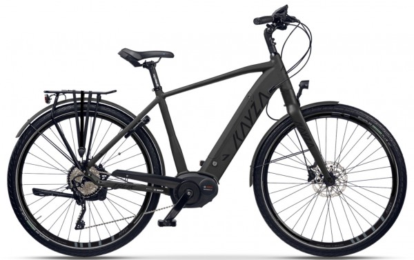 "KAYZA Elektro-Trekkingrad ""Talik Dry 7"" Mod. 21, Diamant, 28"", deep black matt / black glossy, 5-Gang SHIMANO ""Nexus Inter E"", 56cm"
