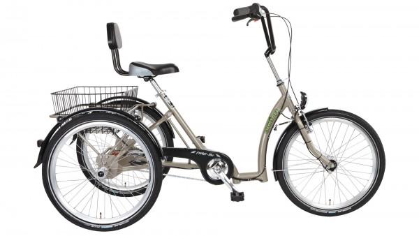 "PFAU-TEC Shoppingrad ""Comfort"" Mod. 21, Tiefeinsteiger, 24 / 26"", sandbeige, 7-Gang SHIMANO ""Nexus"" RBN, 45cm"