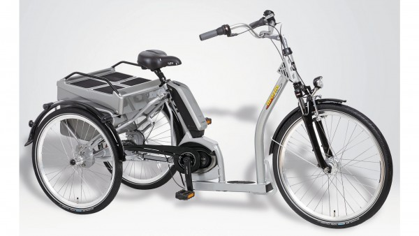 "PFAU-TEC Elektro-Shoppingrad ""Grazia II"" Mod. 21, Tiefeinsteiger, 26 / 24"", silber, 7-Gang SHIMANO ""Nexus"" RBN, 45cm"