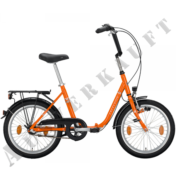 "EXCELSIOR Klapprad ""Klapprad"" Mod.20, Unisex 24"", pure orange, 3-Gang SHIMANO ""Nexus"" RBN, Rahmenhöhe 48 cm"