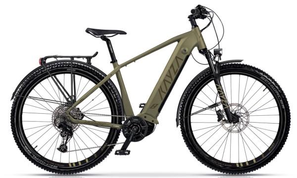 "KAYZA Elektro-MTB StVZO ""Hydric Dry 8"" Mod. 21, Hardtail, 27,5"", light brown matt / brown matt, 12-Gang SRAM ""SX Eagle"", 44cm"