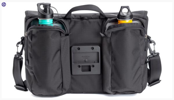 """TERN Lenkertasche """"Go-To Bag""""; Schwarz, bietet Platz für Wechselkleidung, Fahrradschloss, Regenmantel, sowie für einen 15-Zoll-Laptop. An der Außensei"""