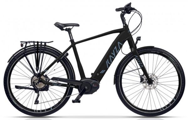 """KAYZA Elektro-Trekkingrad """"Talik Dry 8"""" Mod. 21, Diamant, 28"""", black matt / dark cloud blue matt, 11-Gang SHIMANO """"Deore"""", 56cm"""