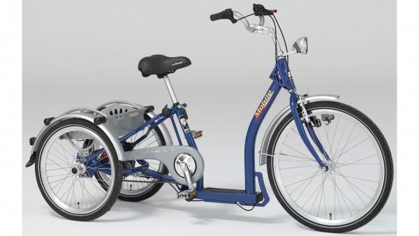 """PFAU-TEC Shoppingrad """"Mobile"""" Mod. 21, Tiefeinsteiger, 24 / 20"""", blau, 3-Gang SHIMANO """"Nexus"""" RBN, 34cm"""
