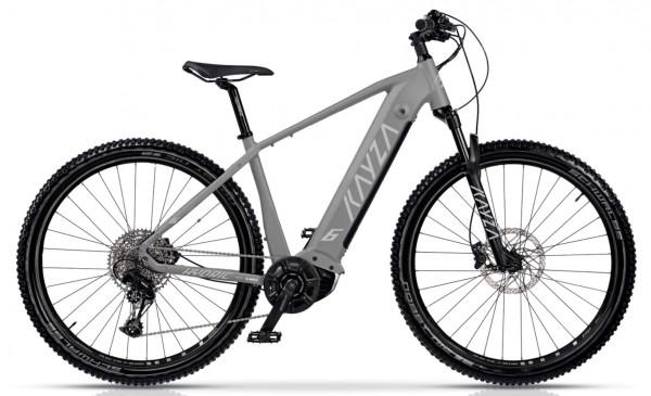 "KAYZA Elektro-MTB Hardtail ""Hydric 6"" Mod. 21, Hardtail, 27,5"", grey matt/ light grey matt, 10-Gang SHIMANO ""Deore"", 47cm"
