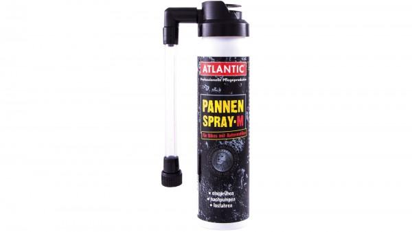 """ATLANTIC Pannenspray; Durch das hochwertige Dichtmittel sind platte Reifen nach einer Minute wieder fahrbereit., """"M"""" für Autoventil, Spraydose 75ml"""